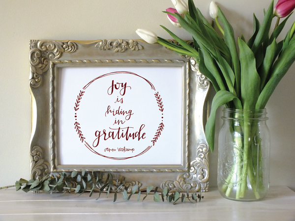 Joy in Gratitude · Print/Canvas