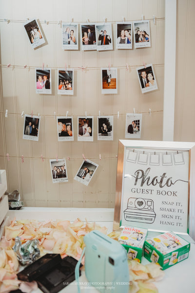 Hanging photo guest book