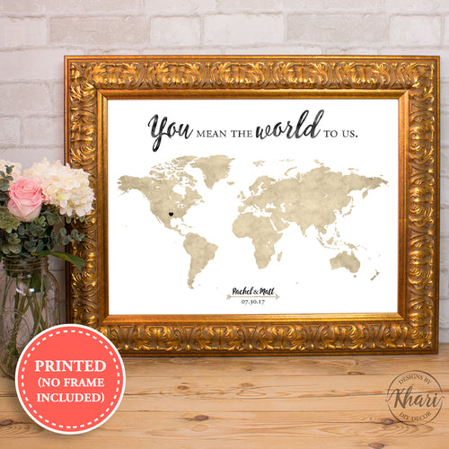 World Map Guest Book - You mean the world to us