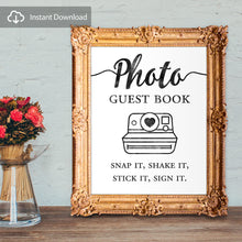 Load image into Gallery viewer, Photo guest book - snap it, shake it, stick it, sign it - digital download