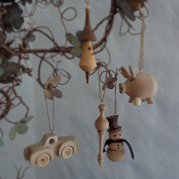 Handmade Christmas ornament - spindle