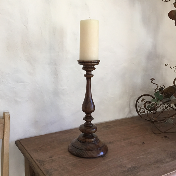 Medium Pillar Wood Turned Candle Stick Holder | MADE by Tanya Baricevich