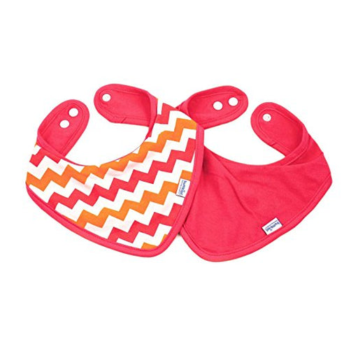 Bumkins Printed Waterproof Bandana Bib, Orange Chevron, 2 Pack