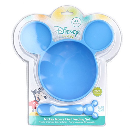 Disney Baby First Feeding Set, Mickey Mouse, Blue