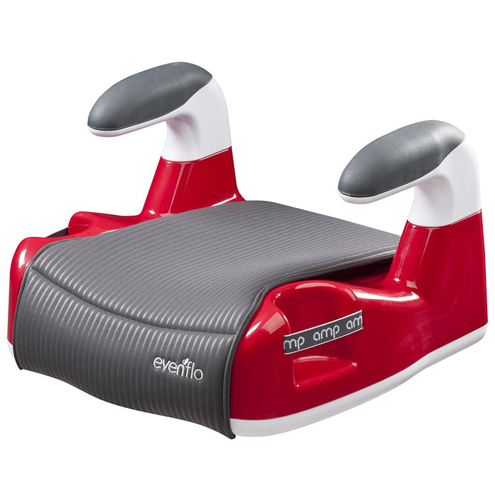 Evenflo Amp Performance No Back Booster Car Seat, Red