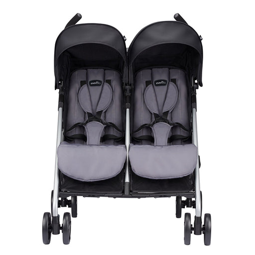 Evenflo Minno Twin Double Stroller, Glenbarr Grey