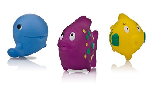 Nuby Bathtime Fun Fish Squirters 3Pk