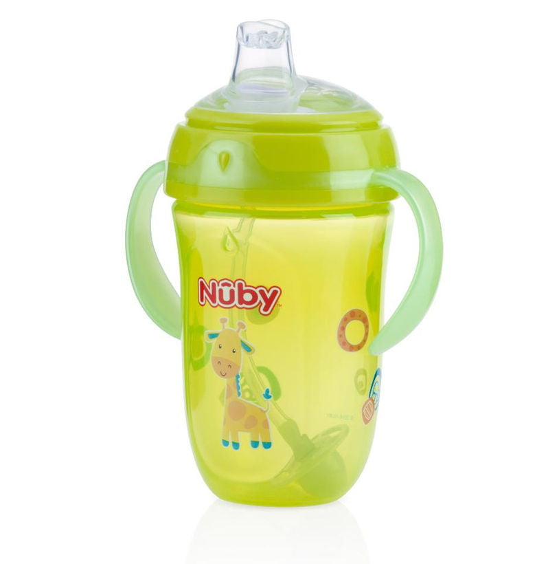 Nuby 360 Degree Two Handle Comfort Cup 9oz Color Vary