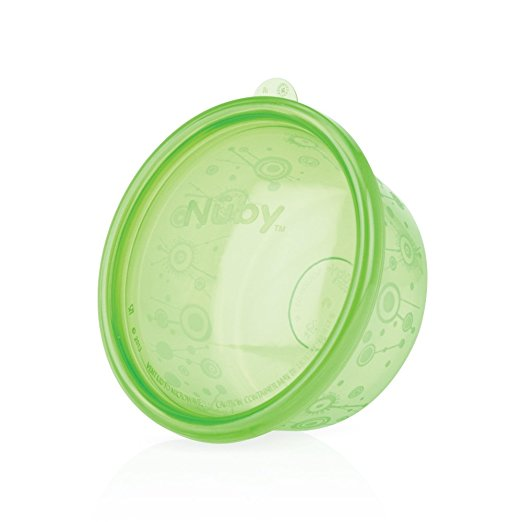 Nuby Wash or Toss Bowls with Lids, 8 Ounce, Colors May Vary (Pack of 6)