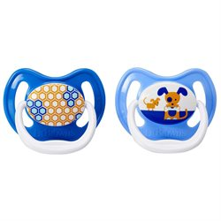 Dr. Brown's PreVent Unique Pacifiers, 6-12 Months, Assorted Pattern