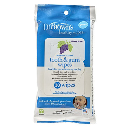 Dr. Brown's Tooth and Gum Wipes, 30 Count