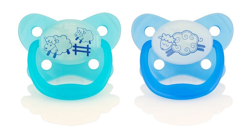 Dr. Brown's Glow in the Dark Pacifier, 0-6 Months, 2 Pack, Assorted Pattern