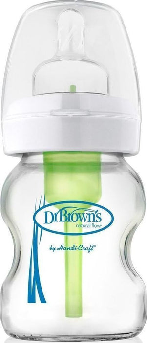 Dr. Brown's Natural Flow Options Glass Wide-Neck Bottle, 5 Ounce