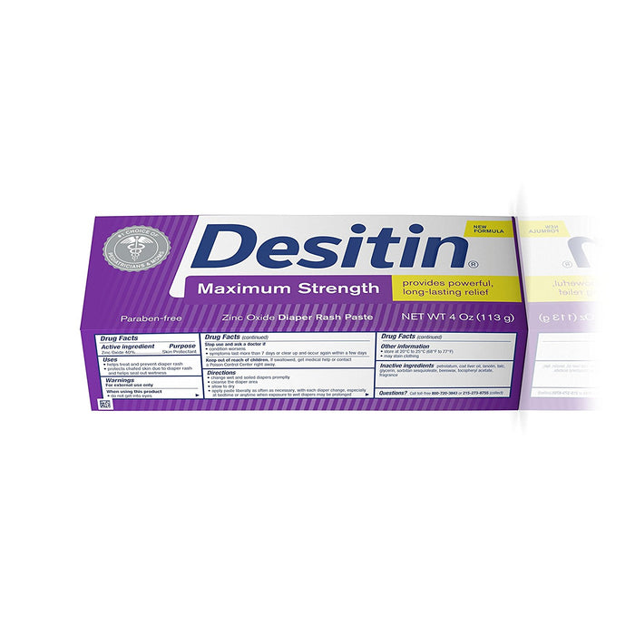 Desitin Maximum Zinc Oxide Diaper Rash, 4oz
