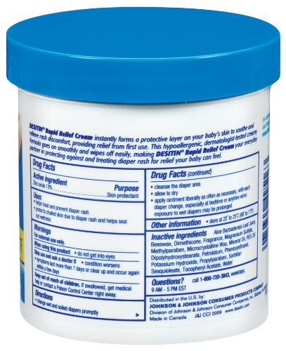 Desitin Rapid Relief Diaper Rash Remedy, Fragrance-Free, 16 Ounce
