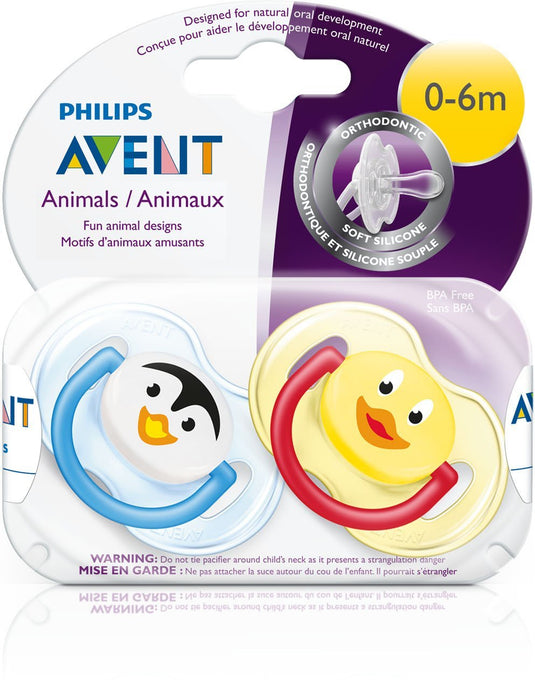 Philips AVENT BPA Free Animal Pacifier, 0-6 Months 2 Pk