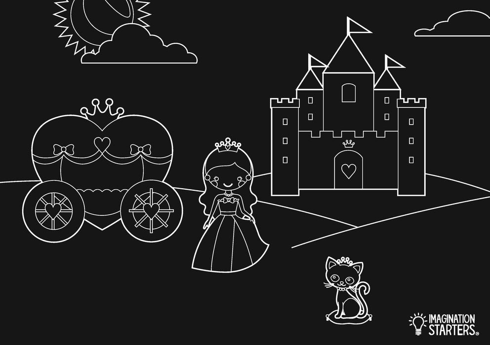 Imagination Starters - Chalkboard Princess Placemat