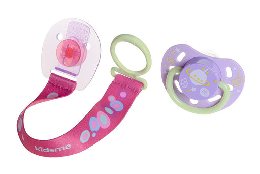 kidsme Glow In The Dark Pacifier Clip Medium Lavender