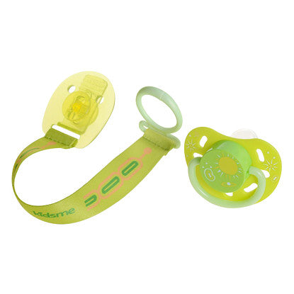 kidsme Glow In The Dark Pacifier Clip Small Lime