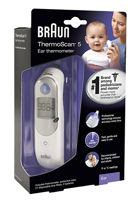 Braun Digital Ear Thermometer ThermoScan5 IRT6500