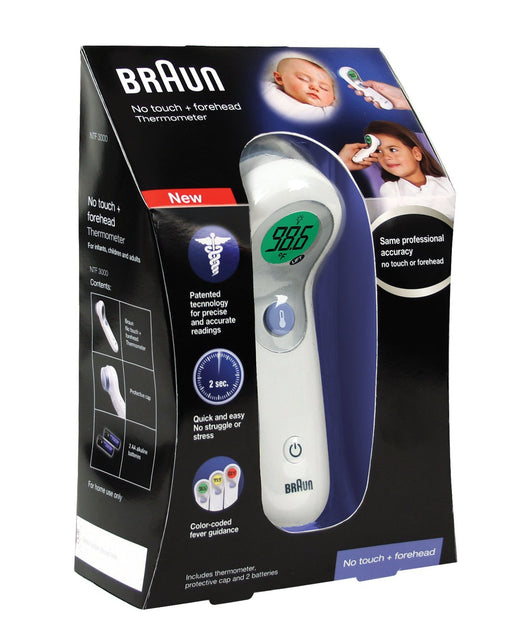 Braun Digital No Touch Plus Forehead Thermometer NTF3000