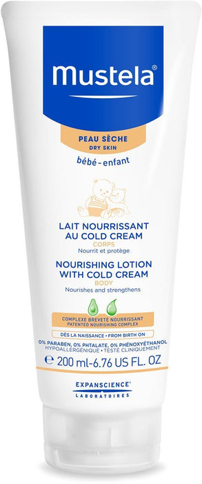 Mustela Dry Skin Nourishing Body Lotion w. Cold Cream, 6.7 oz 200 ml