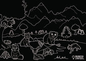 Imagination Starters - Chalkboard Wildlife  Placemat