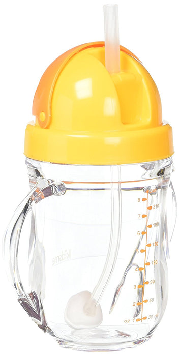 Kidsme Tritan Training Cup Weighted Straw Orange