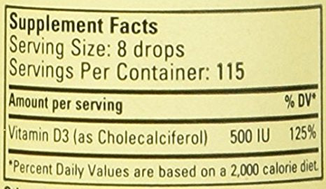 ChildLife Vitamin D3, 1 Ounce
