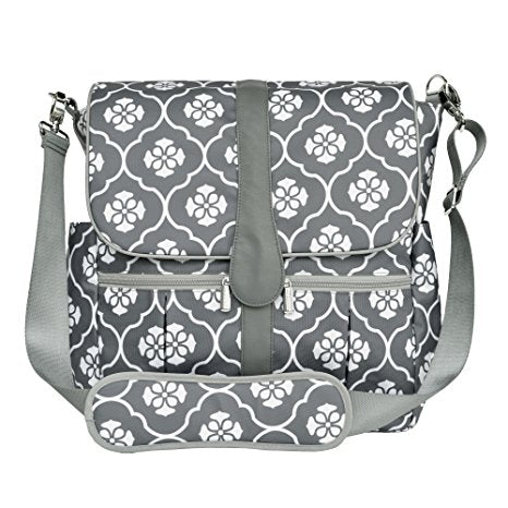 JJ Cole, Backpack Diaper Bag, Gray Floret
