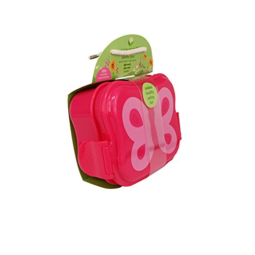 Green Sprouts, Bento Box, Pink Butterfly