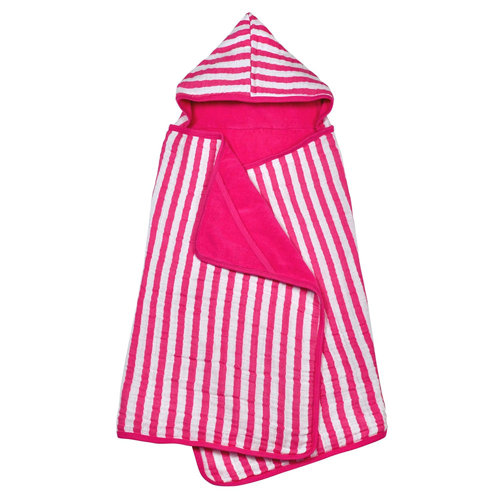 Green Sprouts, Muslin Hooded Towel, Organic Cotton, Hot Pink