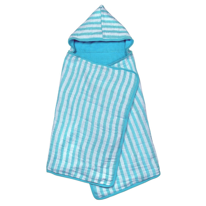 Green Sprouts, Muslin Hooded Towel, Organic Cotton, Aqua