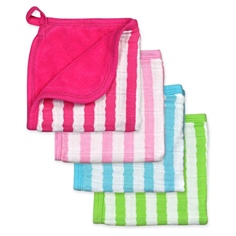 Green Sprouts, Muslin Washcloths, Organic Cotton, Pink Set