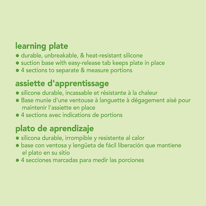 Green Sprouts, Learning Plate, Pink