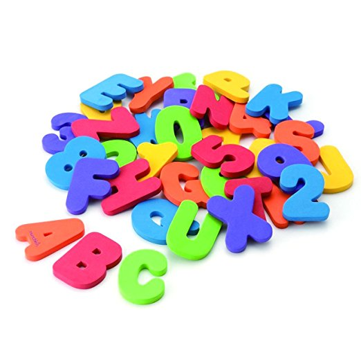Munchkin Learn 3Y + Letters & Numbers Bath Toys, 36 Count