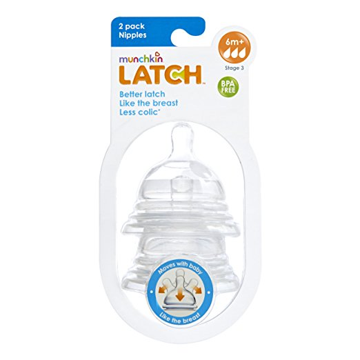 Munchkin Latch Stage 3 Nipple, 6 M+, 2 Count