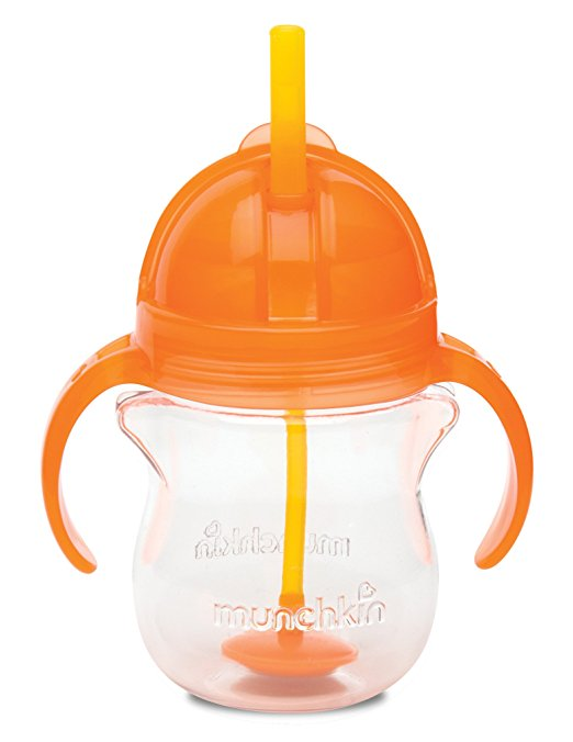 Munchkin Click Lock Weighted Flexi-Straw Cup, Colors May Vary 7 oz