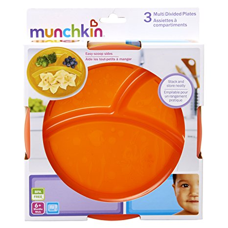 Munchkin 3 Multi Divided Plates 6M+