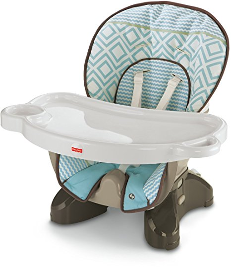 Fisher Price, SpaceSaver High Chair, Teal Tempo