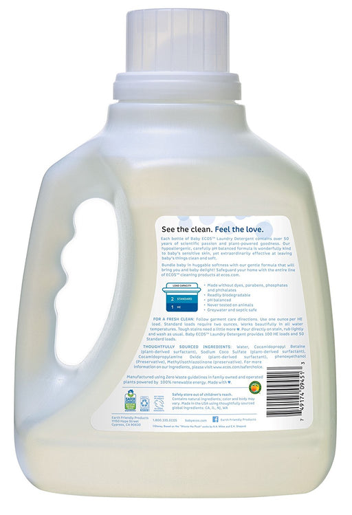 Ecos Baby Laundry Detergent, Fragrance Free, 100 Ounce