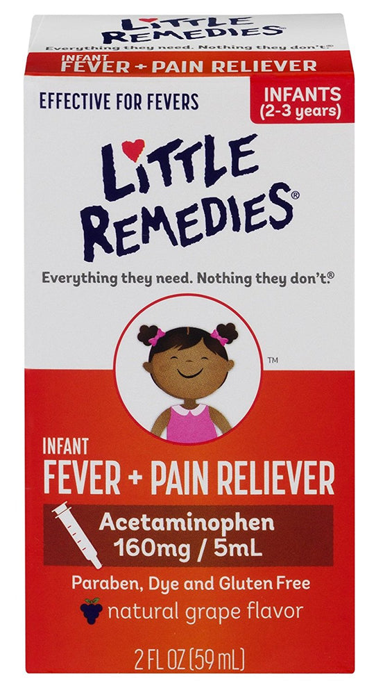 Little Remedies Fever + Pain Reliever 2oz