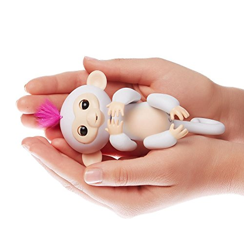 Fingerlings, Interactive Baby Monkey, Sophie (White with Pink Hair)