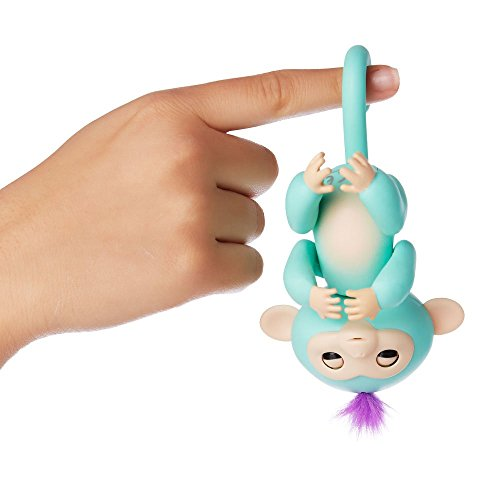 Fingerlings, Interactive Baby Monkey, Zoe (Turquoise with Purple Hair)