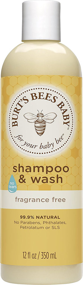 Burt's Bees Baby Shampoo & Wash, Fragrance Free, 12 Ounce
