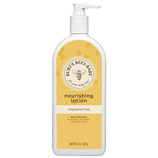 Burt's Bees Baby Nourishing Lotion, Fragrance Free, 12 Ounces