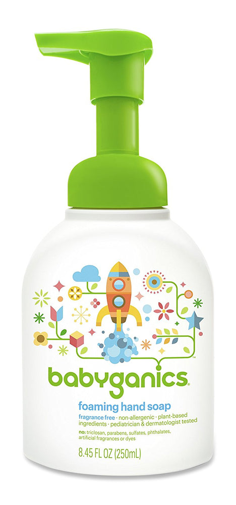 Babyganics Fine & Handy Foaming Hand Soap Unscented, 8.45 Ounce