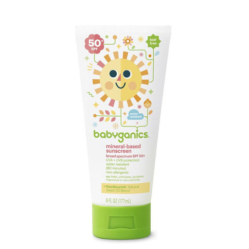 Babyganics Mineral-Based Baby Sunscreen Lotion SPF 50, 6 Ounce Tube