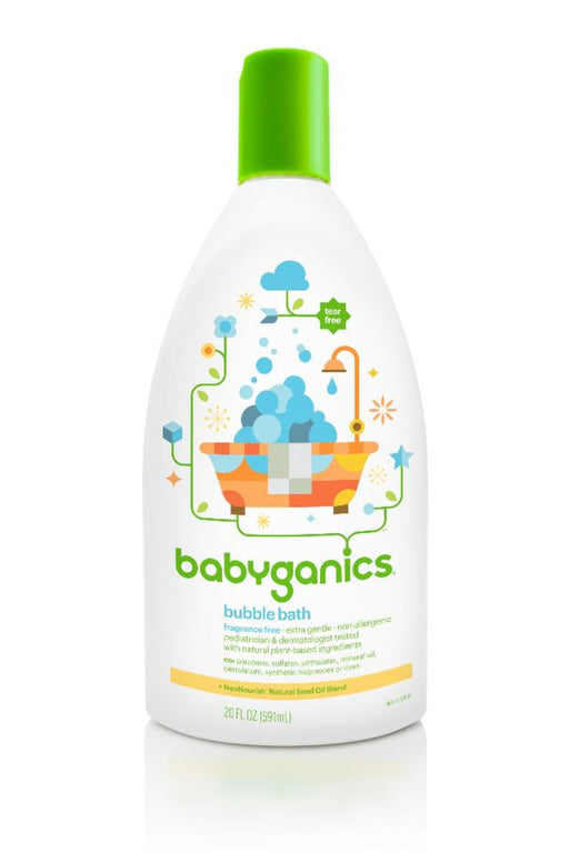 Babyganics Fragrance Free Baby Bubble Bath Bottle, 20 Ounce