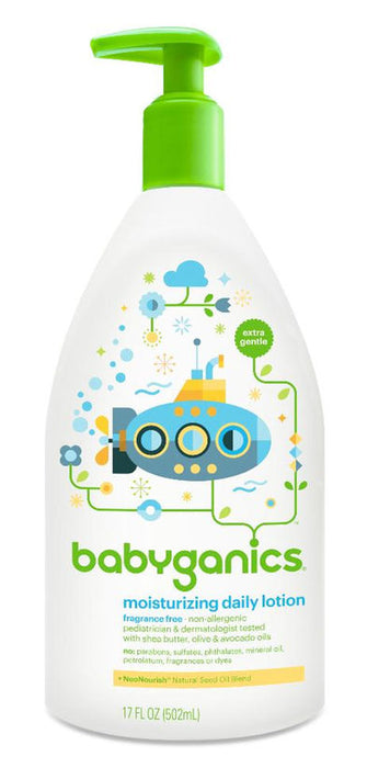 Babyganics Moisturizing Daily Lotion Fragrance Free, 17 Ounce Pump Bottle